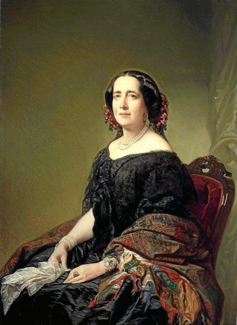 Retrato de Gertrudis Gómez de Avellaneda, por Federico de Madrazo.