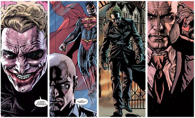 Varias escenas de las novelas gráficas 'Joker' y 'Lex Luthor'.