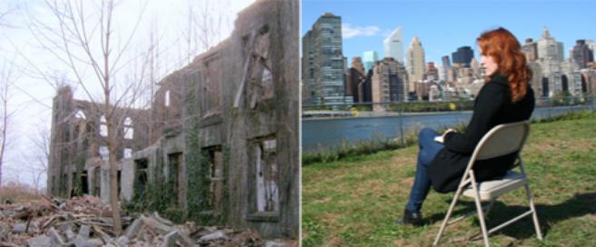 Las ruinas del que fue un hospital para gente sin recursos, y la...