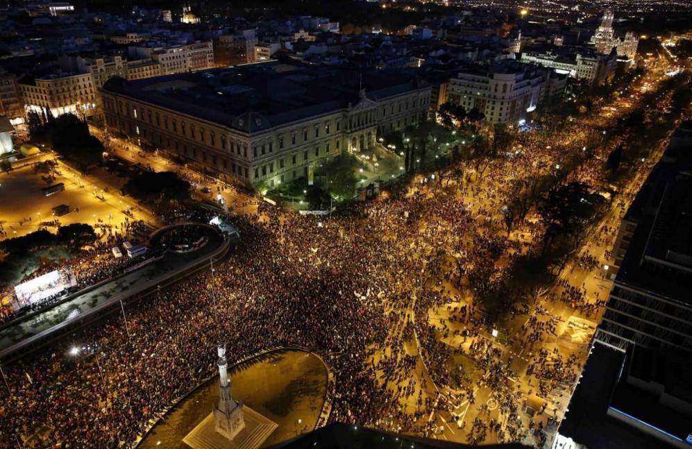 Vista aérea de la Plaza de Colón.