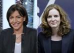 Las candidatas a la Alcaldía de París, la socialista Anna Hidalgo...
