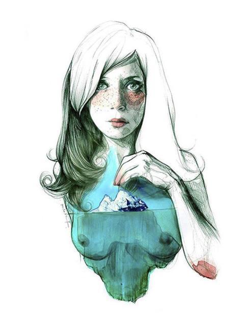 'Zona iceberg', autorretrato de Paula Bonet.