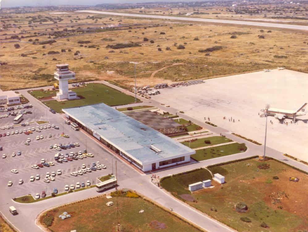 Vista aérea de las instalaciones en 1969.