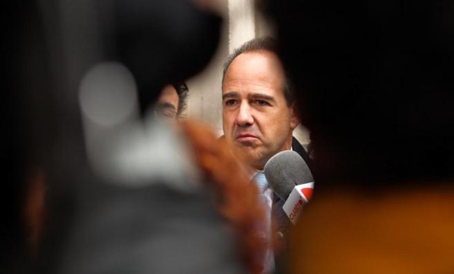 El ex alcalde de Boadilla Arturo González Panero ante los medios al...