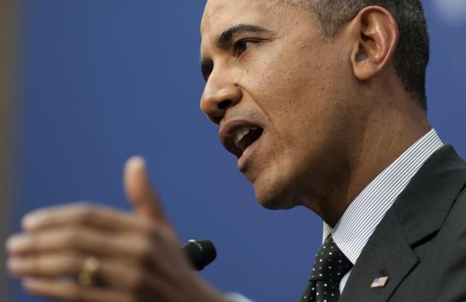 Obama, durante su intervención en La Haya.