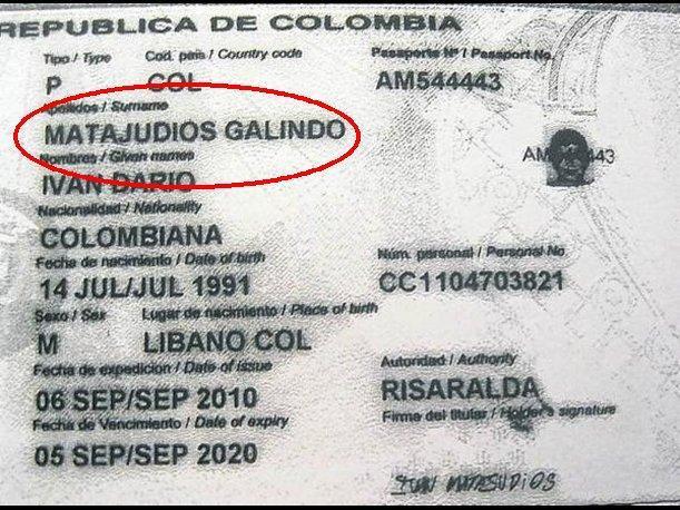 Reproducción del documento de identificación argentino del...