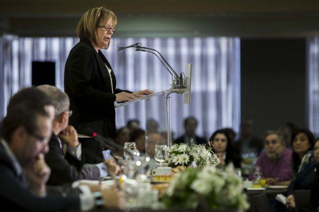 La coordinadora de EU, Marga Sanz, expone las líneas programáticas...