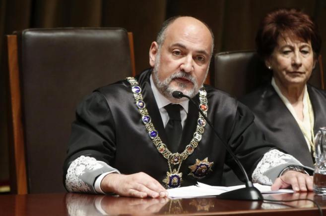 El presidente del Tribunal Constitucional (TC), Francisco Pérez de...