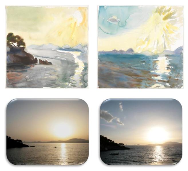 Paisaje de la isla de Hydra en Junio de 2010 durante y después de una...