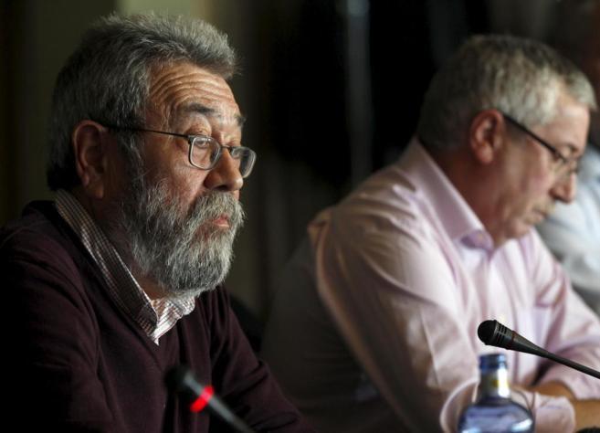 Cándido Méndez e Ignacio Fernández Toxo, en un acto sindical...