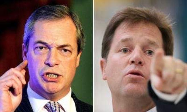 Farage y Clegg.
