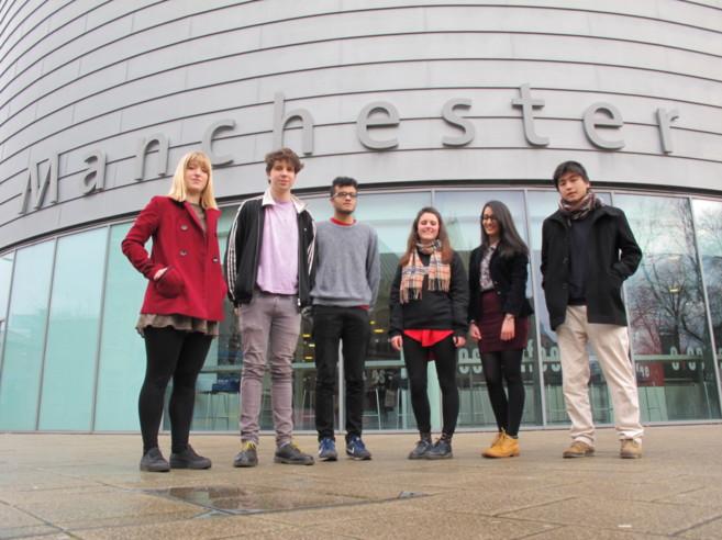 Estudiantes de la Post-Crash Society en la Universidad de Manchester.