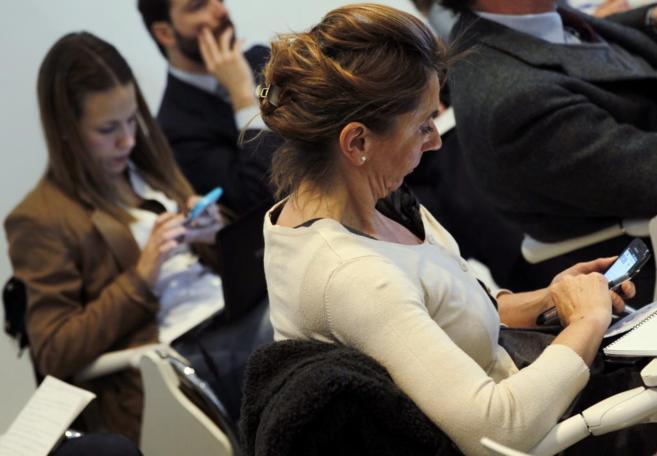 Momento de la presentación de la aplicación en Madrid.