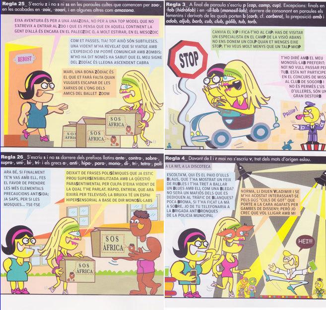 Extractos del cómic 'Norma l'Atac' editado por el...
