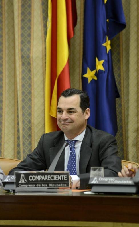 Leopoldo González Echenique, durante la comisión de control a RTVE.