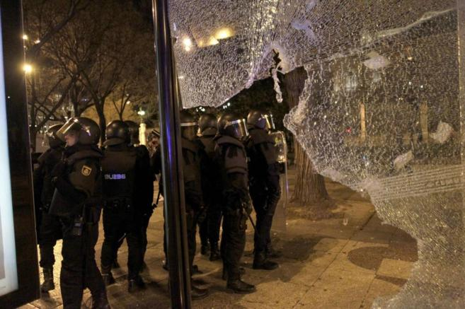 Disturbios tras la Marcha de la Dignidad en Madrid el pasado 22 de...