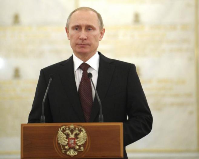 El presidente ruso, Vladimir Putin, en una rueda de prensa en el...