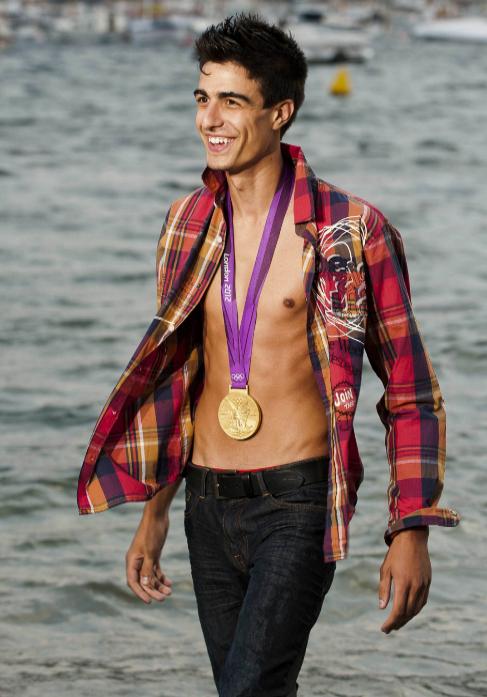 Joel González, modelo y campeón olímpico.