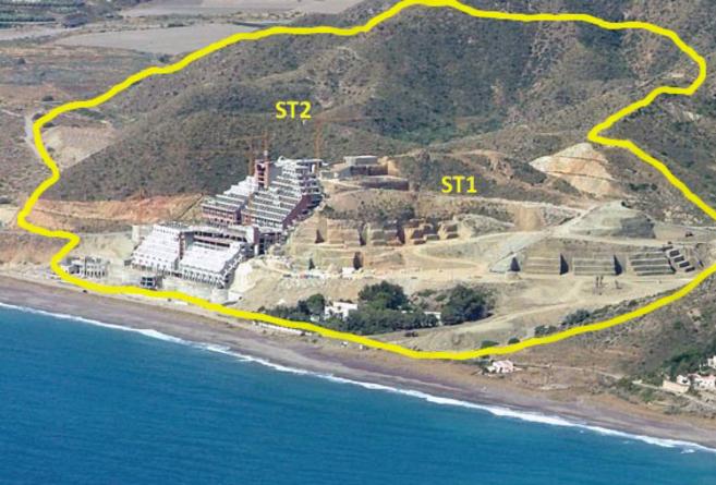 Imagen de El Algarrobico y zonas limítrofes que la sentencia del TSJA...