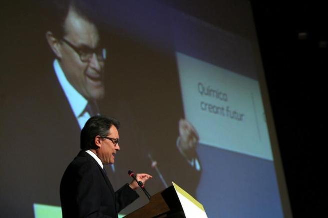 El presidente de la Generalitat, Artur Mas, el viernes en Tarragona