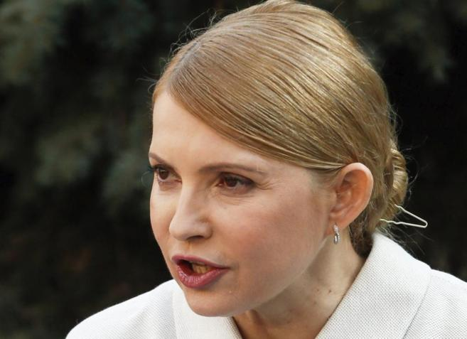 Yulia Timoshenko, en una comparecencia pública.