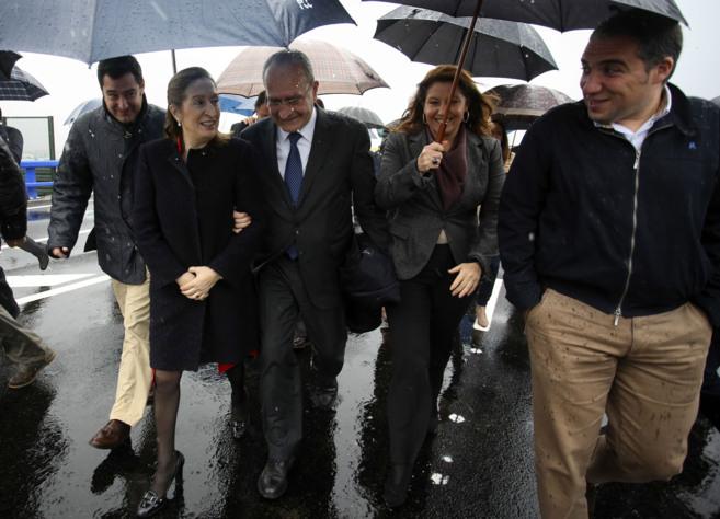 Moreno, Pastor, De la Torre, Crespo y Bendodo en la inauguración del...