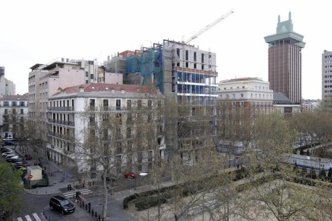 Imagen de las obras en la sede de la Audiencia Nacional de Madrid.