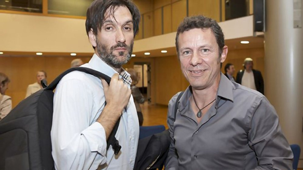 Ricardo García Vilanova y Javier Espinosa, en uno de sus encuentros...