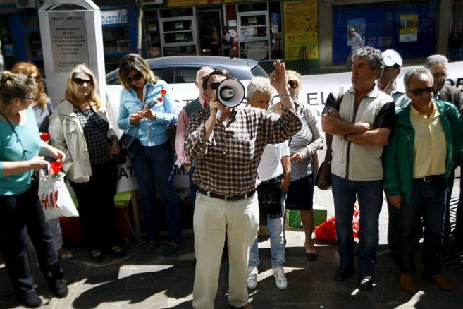 Una de las protestas de los afectados por productos de la CAM en...