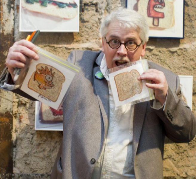 Laferreire, durante la presentación de su exposición en Madrid.