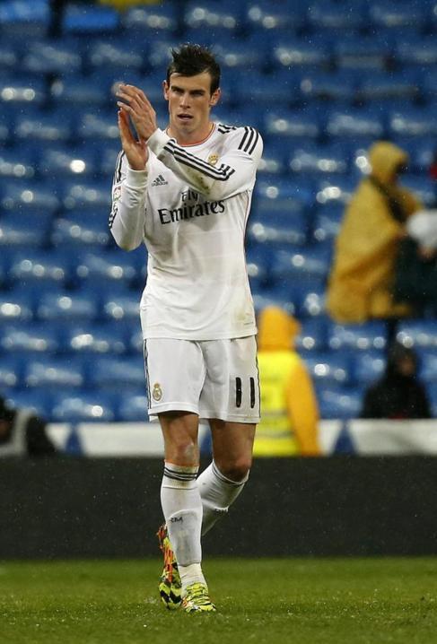 Gareth Bale celebra un gol ante el Rayo.
