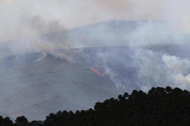 Imagen de un incendio reciente en Alhama de Almería.