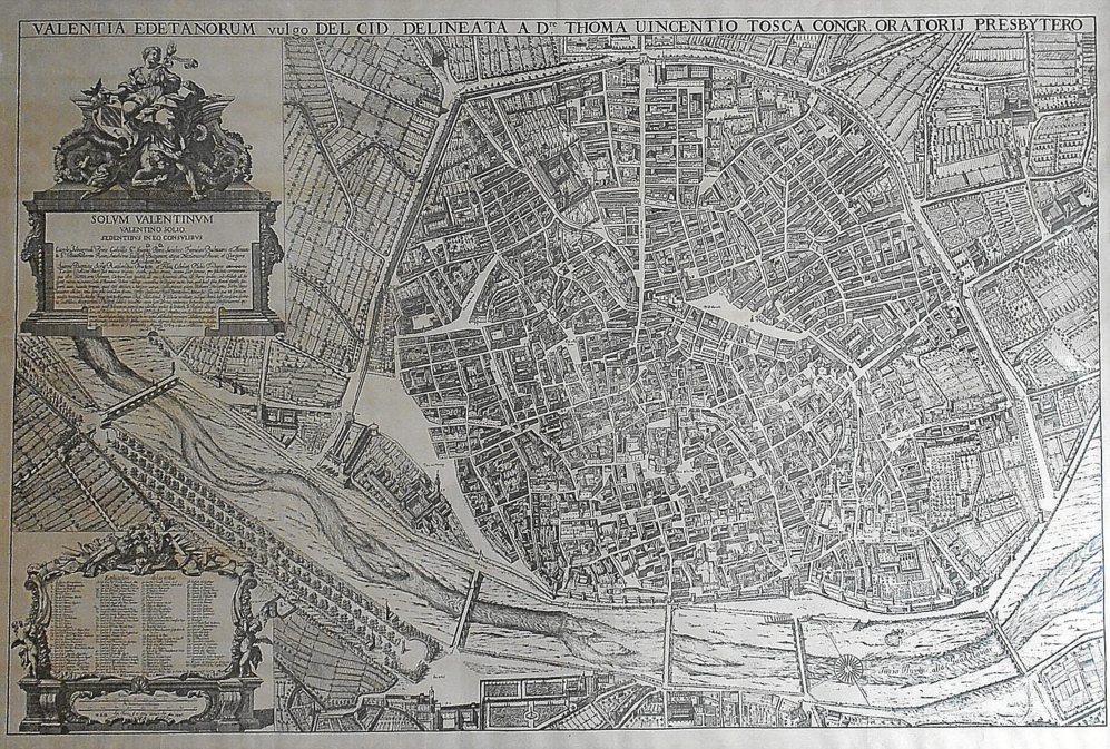 TOSCA, EL MÁS CONOCIDO. El plano del padre Tosca (1704) fue considerado el primero de la ciudad hasta que se descubrió el de Mancelli, realizado 100 años antes.