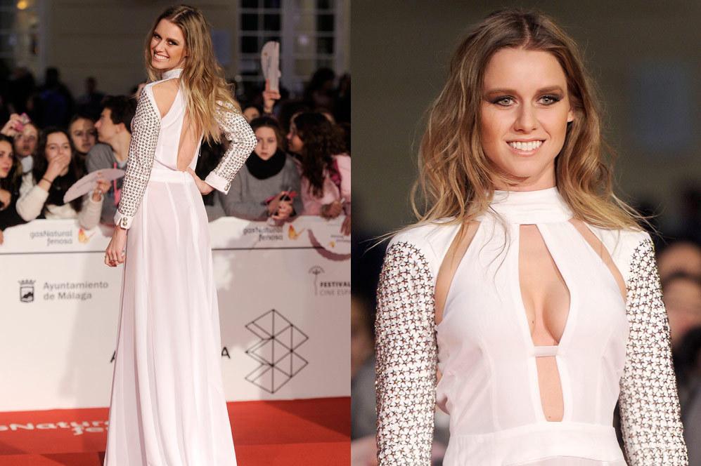 Espectacular el look elegido por Manuela Vellés para despedir el...