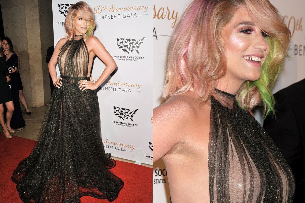 Kesha reapareció, después de dos meses retirada en una clínica para...
