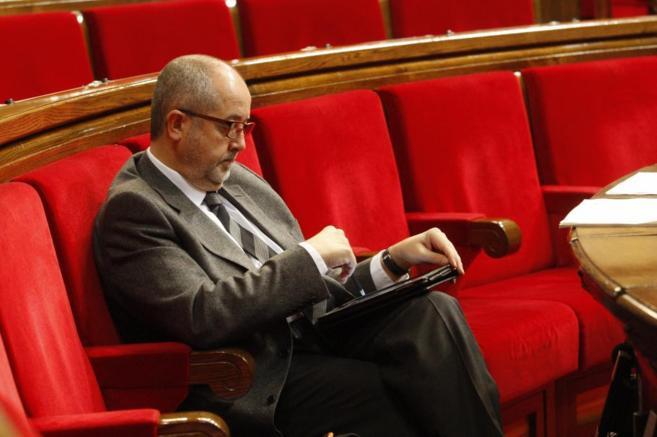 El Conseller Felip Puig, en el Parlament