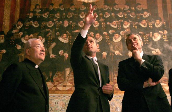 El ex presidente de la Generalitat con responsables del Vaticano en...