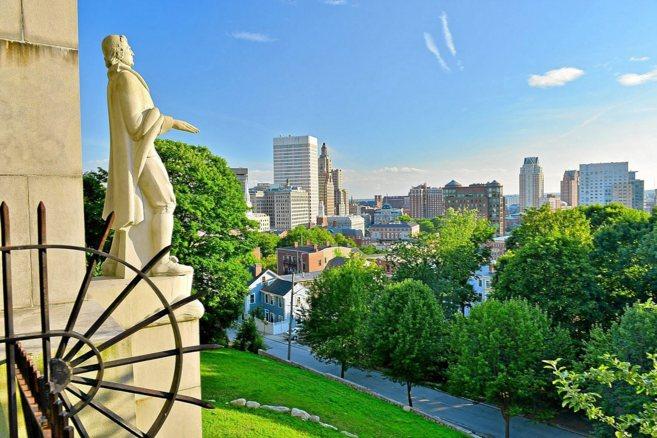 Vista general de la ciudad de Providence, en el estado de Rhode...