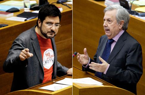El diputado de EU Ignacio Blanco y el diputado del PP Rafael Maluenda.