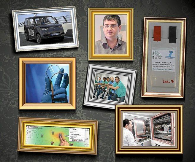 Imagen de algunos de los proyectos con participación española...