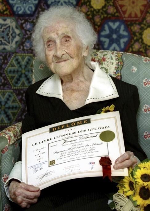 Jeanne Calment, la mujer más longeva de la historia, que cumplió 122...