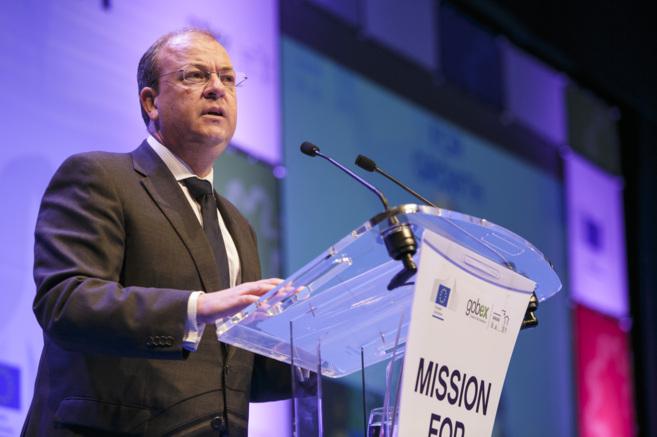 El presidente extremeño, José Antonio Monago, durante su...