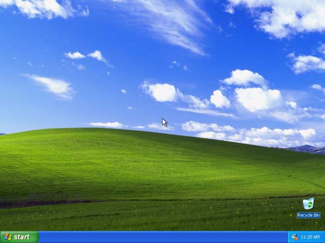 La ya clásica pantalla de inicio de Windows XP.