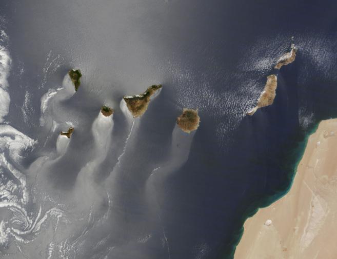La foto de las Canarias tomada por el satélite Terra, finalista a...