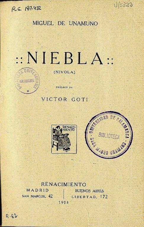 La primera edición de 'Niebla'.