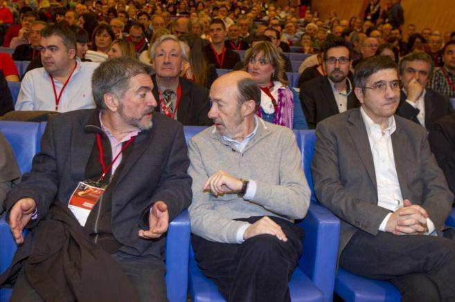 Jesús Eguiguren, Rubalcaba y Patxi López.