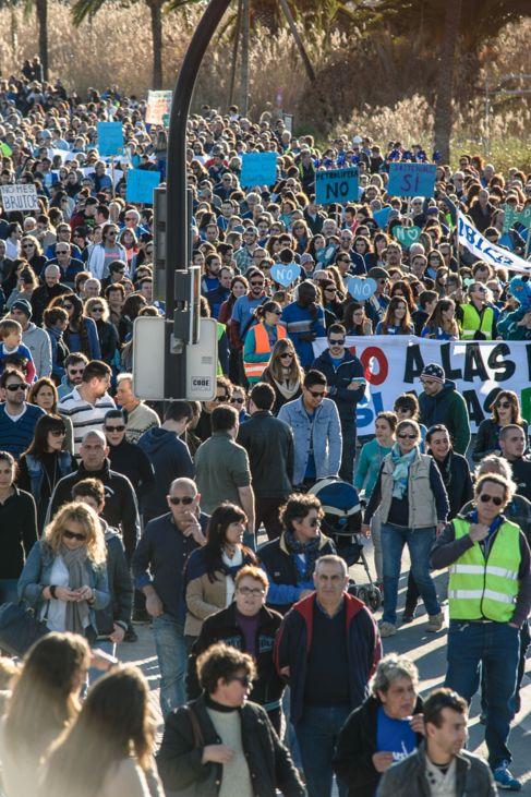 Manifestación en Ibiza contra los sondeos.