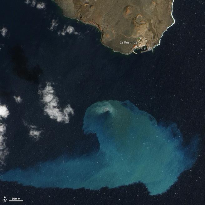 Erupción del volcán submarino de El Hierro (foto ganadora en el...