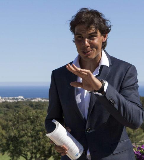El tenista Rafael Nadal en el municipio mallorquín de Felanitx