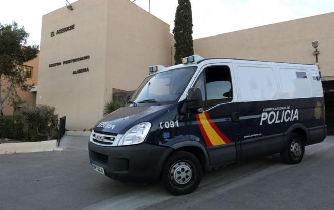 Momento de la salida de la prision de El Acebuche, en Almería, del...